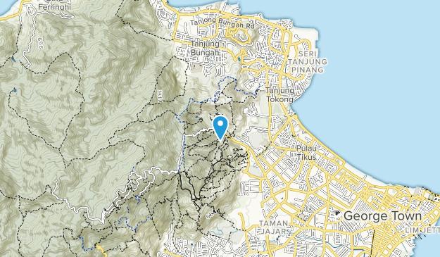 Penang Botanical Gardens Map