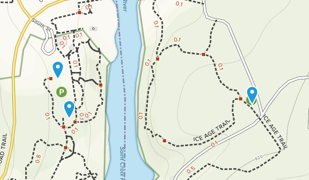 Dalles of the Saint Croix River State Natural Area Map