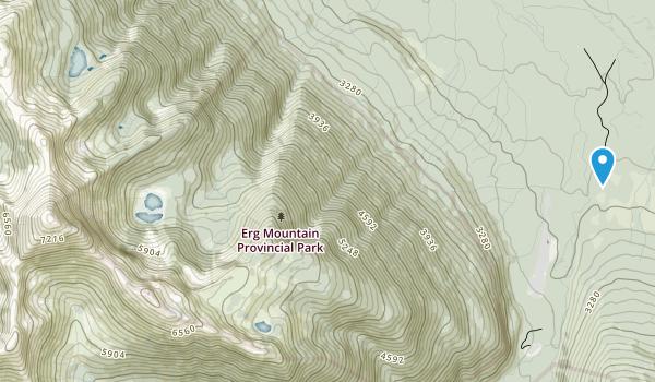 Erg Mountain Provincial Park Map