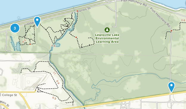 Lewisville Lake Environmental Learning Area Map