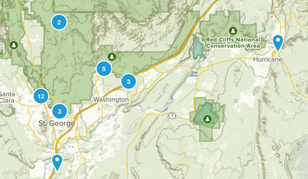 Red Cliffs National Conservation Area Map