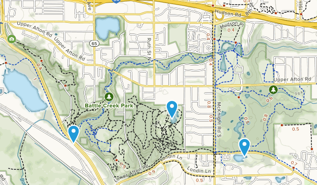 Battle Creek Regional Park Map