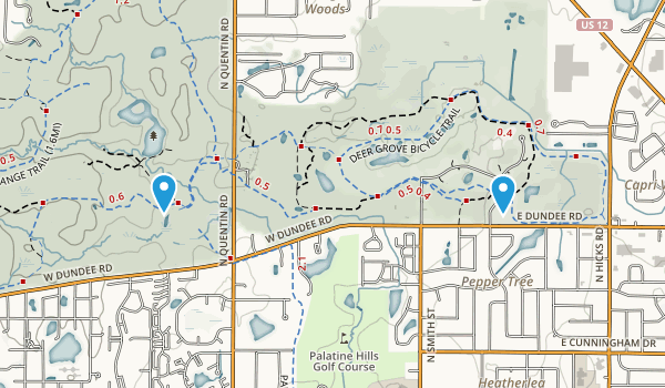 Deer Grove Forest Preserve Map