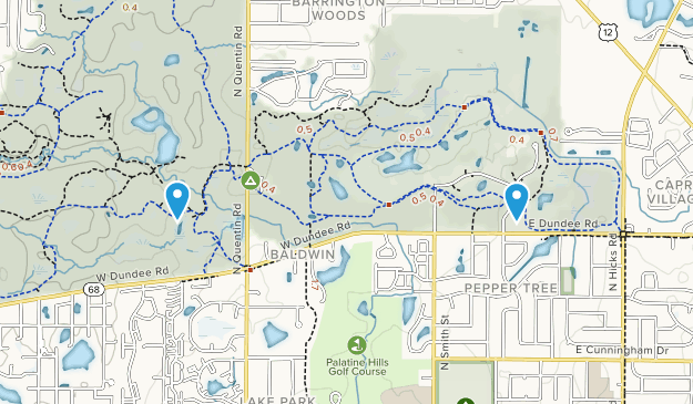 Deer Grove Forest Preserve Map