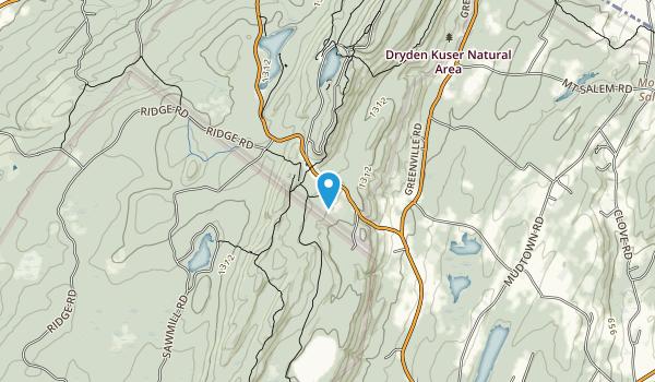Dryden Kuser Natural Area Map