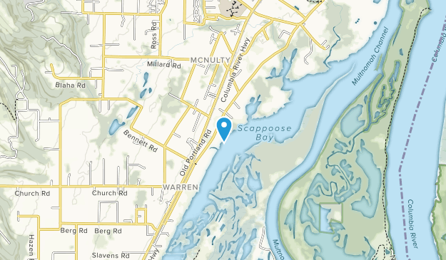 Scappoose Bay Marine Park Map