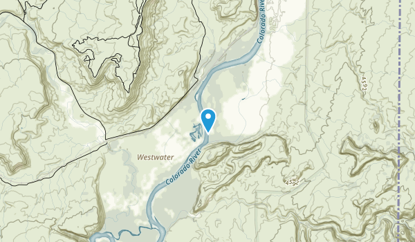 Westwater Canyon Wilderness Study Area Map