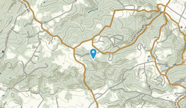 Texter Mountain Nature Preserve Map