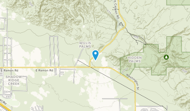 Coachella Valley Preserve Map