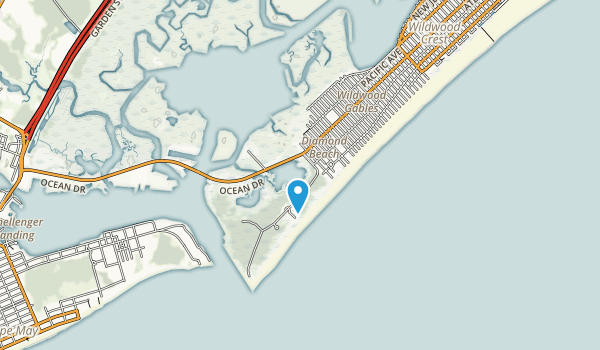 Cape May Migratory Bird Refuge Map