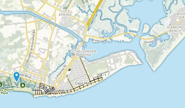 Cape May Migratory Bird Refuge Map