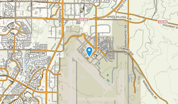 Peterson Air Force Base Map
