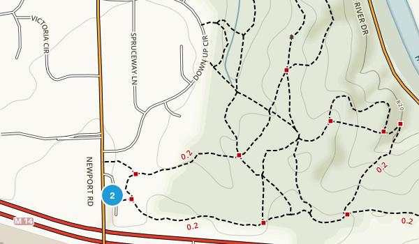 Bird Hills Nature Area Map