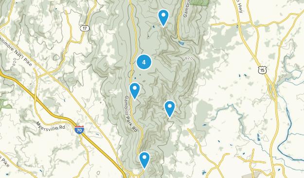 Frederick Municipal Forest Map