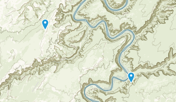 Horseshoe Canyon Wilderness Study Area Map