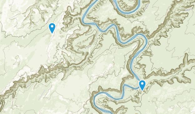 Horseshoe Canyon Wilderness Study Area Map