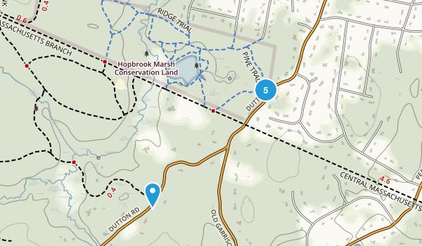 Hopbrook Marsh Conservation Land Map