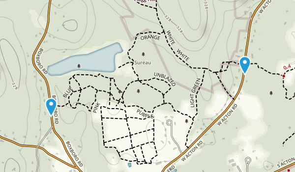 Heath Hen Meadow Brook Woodland Map