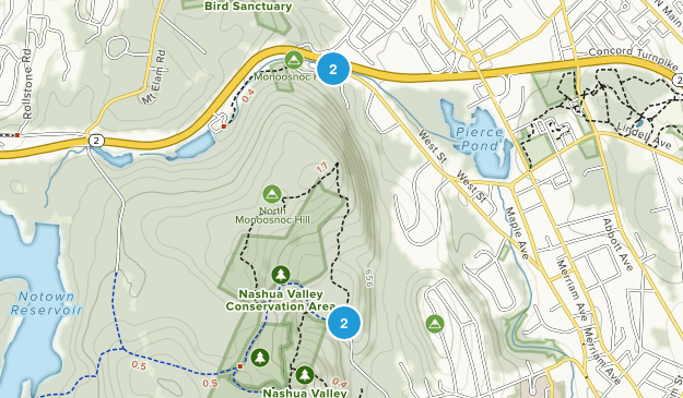 Nashua Valley Conservation Area Map