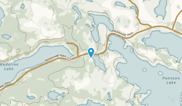 Madeline Lake Territorial Park Day Use Area Map