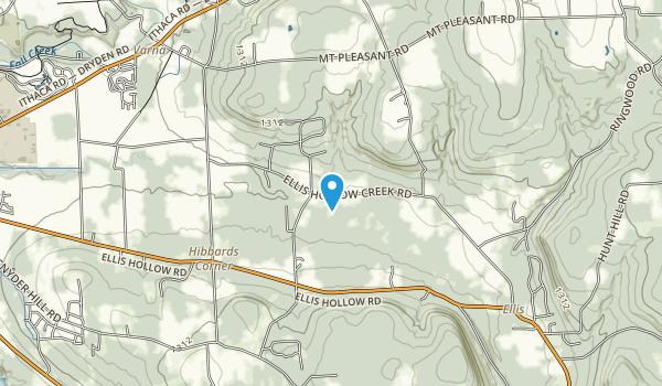 Ellis Hollow Nature Preserve Map
