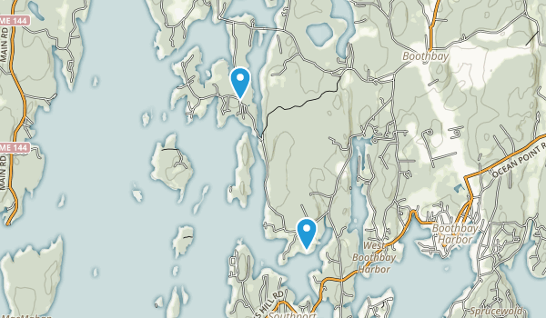 Boothbay Regional Land Trust Map
