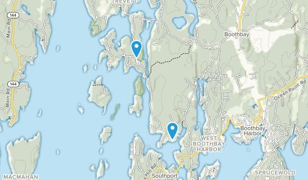 Boothbay Regional Land Trust Map