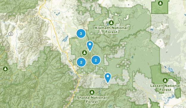 Mount Shasta Wilderness Map