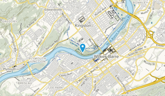 Wilkes-Barre River Common Map