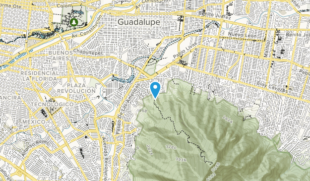 Monumento Natural Cerro de la Silla Map