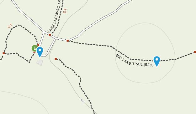 Lacawac Sanctuary Map