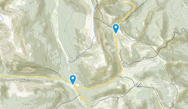 Plateau Mountain Ecological Reserve Map