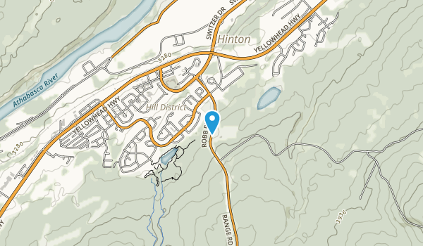 Hinton Bike Park  Map