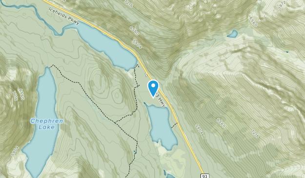 Siffleur Wilderness Area Map