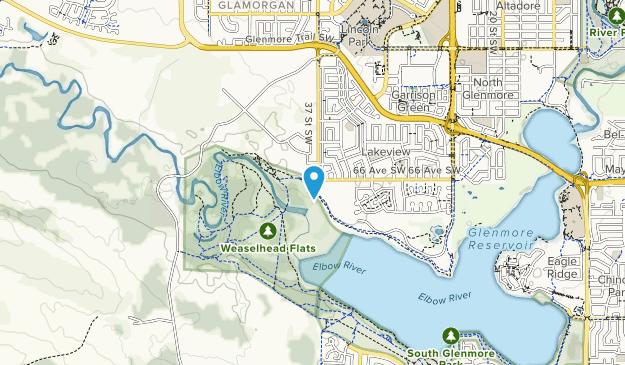 Weaselhead Flats Map