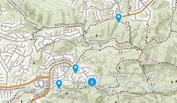 Lang Ranch Open Space Map