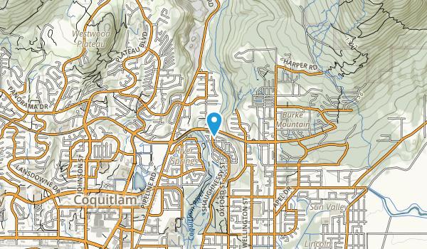 Pinecone Burke Provincial Park  Map