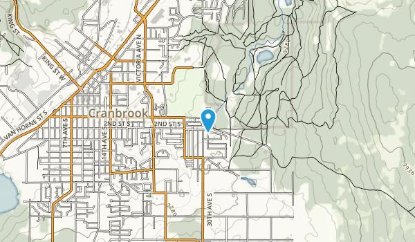 Cranbrook Community Forest Recreation Site Map