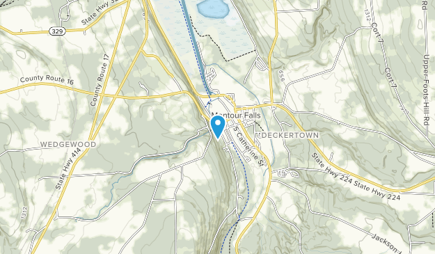 Shequaga Falls Park Map