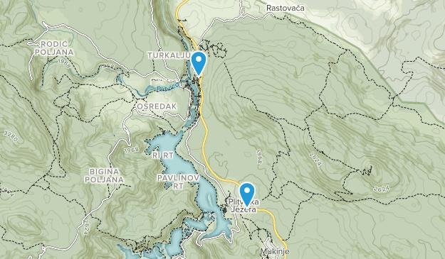 Plitvice Lakes National Park Map