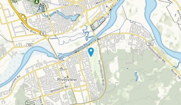 Moncton Golf and Country Club Map