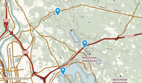 City of Manchester Water Works Map