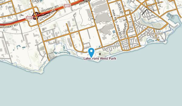 Lakefront West Park Map