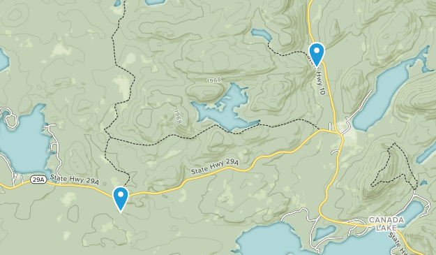 Ferris Lake Wild Forest Map