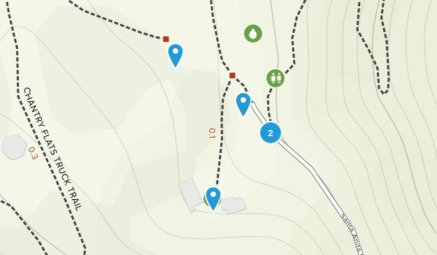 Chantry Flat Recreation Area Map