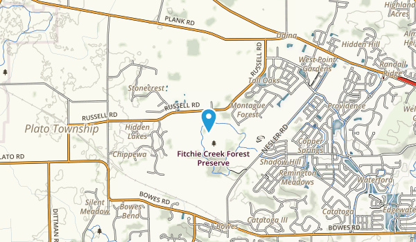 Fitchie Creek Forest Preserve Map