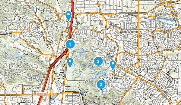 Austin Bluffs Open Space - Pulpit Rock Map