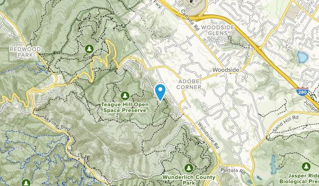 Teague Hill Open Space Preserve Map