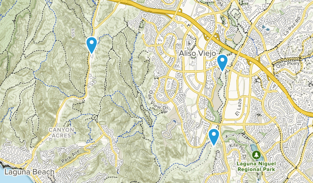 Aliso and Wood Canyons Wilderness Park Map