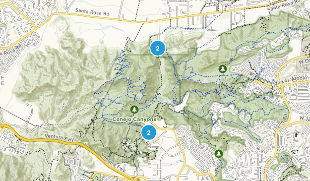 Conejo Canyons Open Space Map